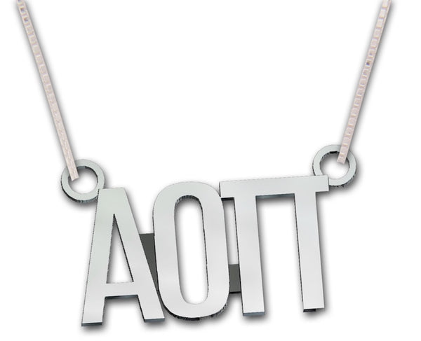 Alpha Omicron Pi necklace, choker style.