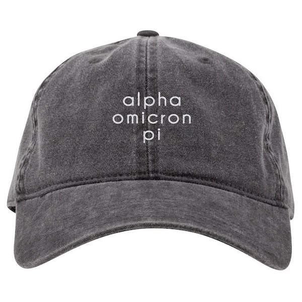 Alpha Omicron Pi Hat . Embroidery