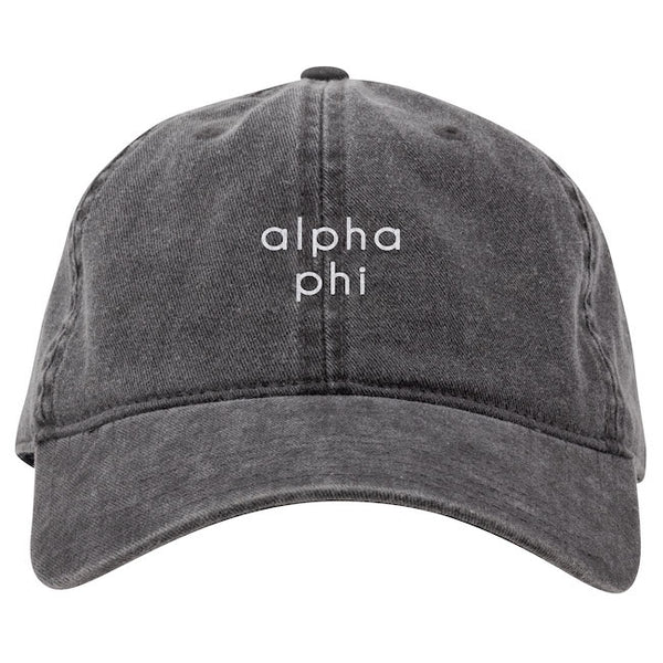 Alpha Phi Hat . Embroidery
