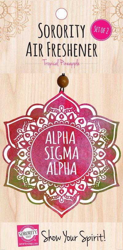 Air fresheners with Alpha Sigma Alpha on it.