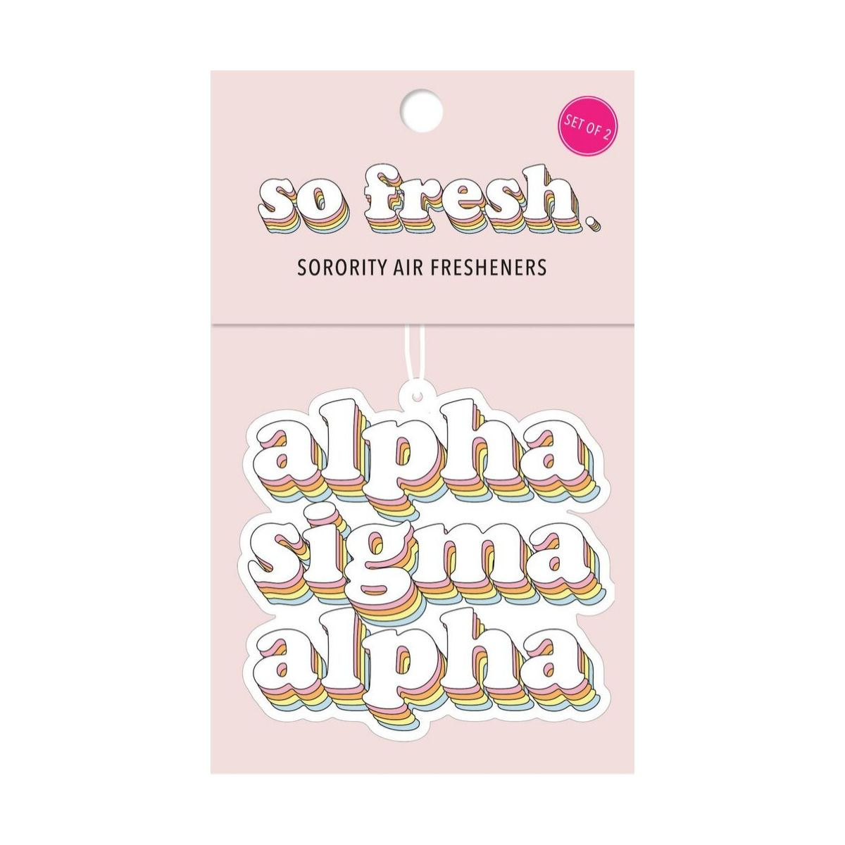 Alpha Sigma Alpha Car Air Fresheners Retro Style