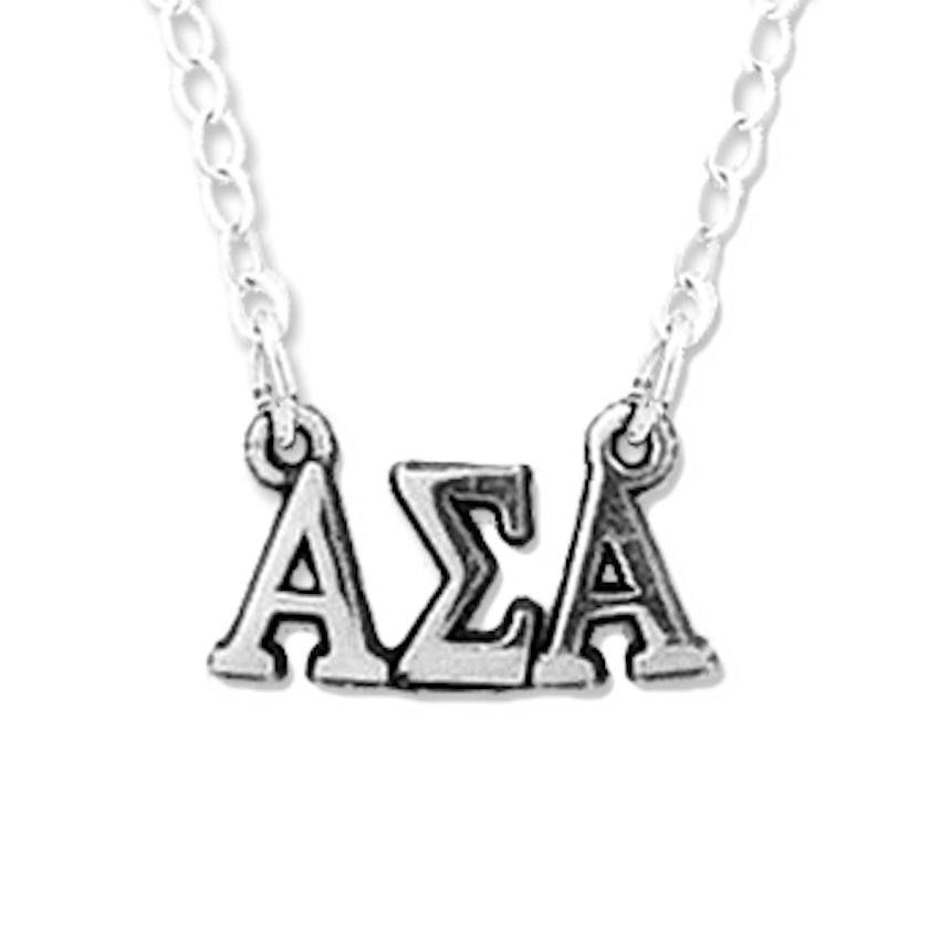Alpha Sigma Alpha necklace, chocker style.