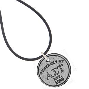 Alpha Sigma Tau Necklace or Bracelet . Property of Disc