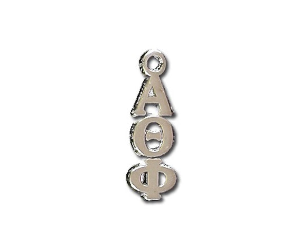 Alpha Theta Phi Lavalier sterling silver. Add a 16 in, 18 in, or 20 in sterling silver box chain. Is it a gift? Let us ship for you in a gift box tied with ribbon and a handwritten gift card.