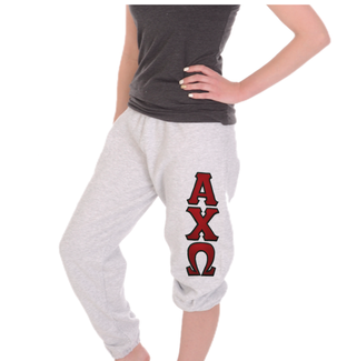 Alpha Chi Omega Sweatpants . 2 Layer Greek Letters