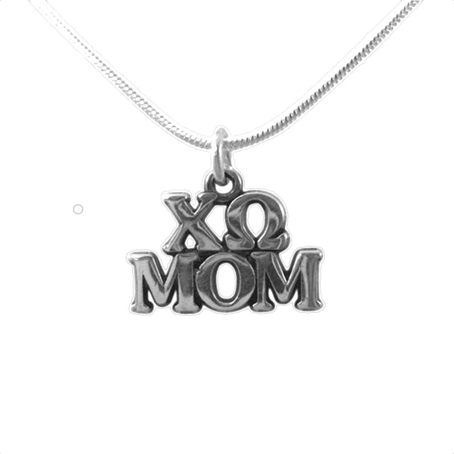 Chi Omega Mom Charm the perfect sorority mom gift! Shop #ChiOmega jewelry at M&D Sorority Gifts.  200+ #CHIO products available. #mdsororitygifts