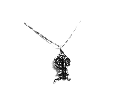 Chi Omega Owl Charm (Small 3-D) Shop #ChiOmega jewelry at M&D Sorority Gifts.  200+ #CHIO products available. #mdsororitygifts