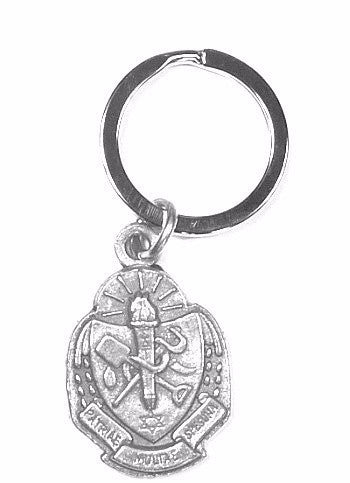 Reverse side of Sigma Delta Tau Crest Keychain