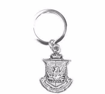 Reverse side of Alpha Sigma Alpha Crest Keychain