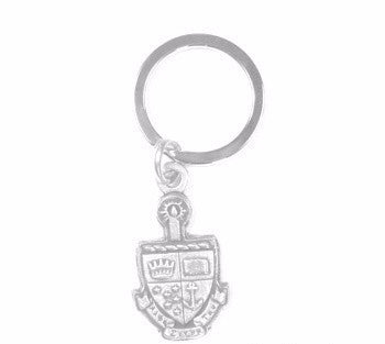 Alpha Sigma Tau Keychain . Crest with Greek Letters