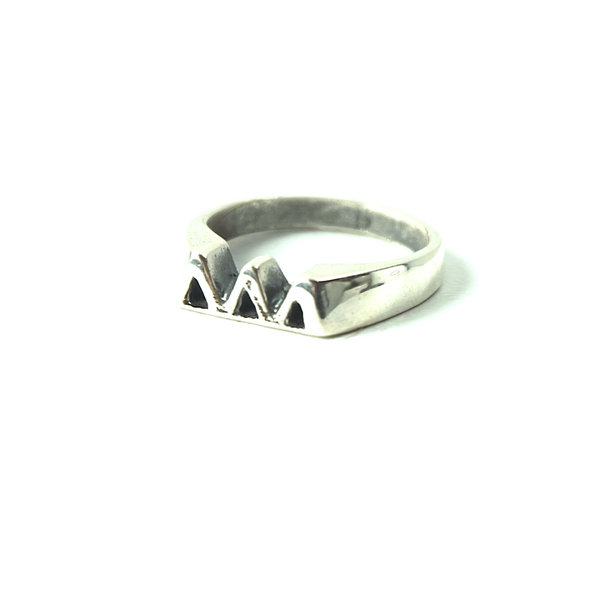 Tri Delta Ring with Greek Letters Sterling Silver.