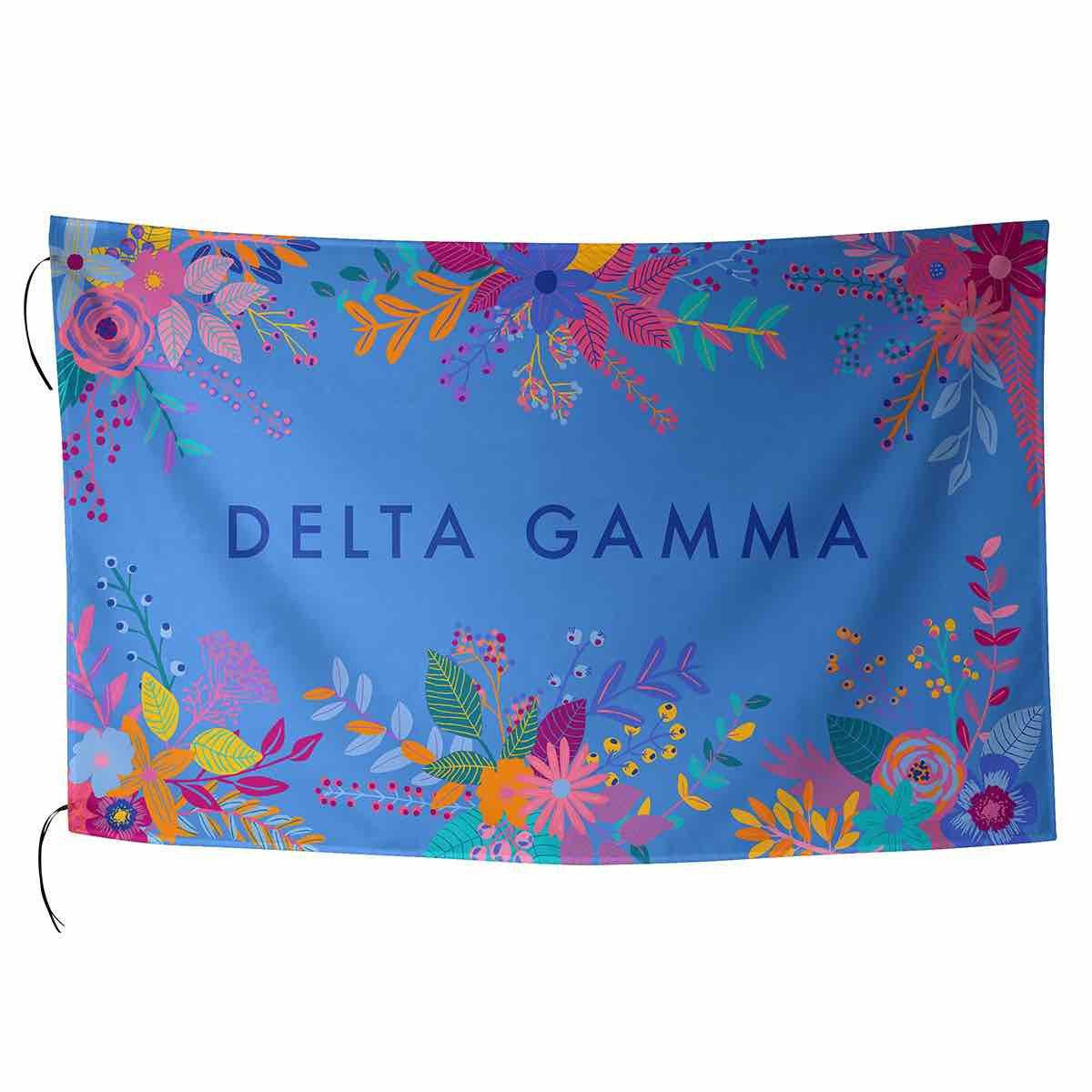 Delta gamma flag md sorority gifts delta gamma symbol with gold and floral print buycottarizona
