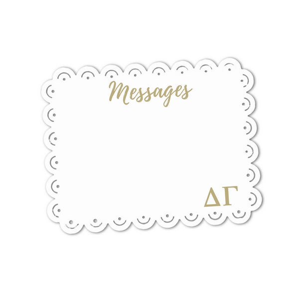 Delta Gamma Message Sign I Greek Letters