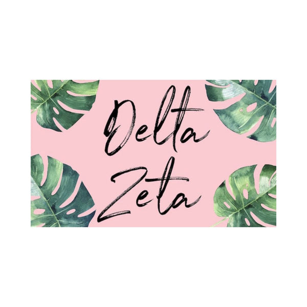 Delta Zeta Flag Tropical Pink Palm