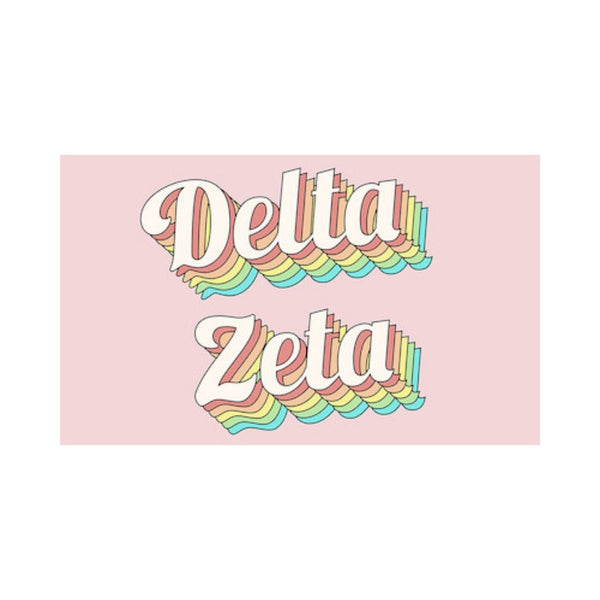 Delta Zeta Flags are perfect for every occasion…birthdays, mixers, tailgating, ect. Where will you take yours?