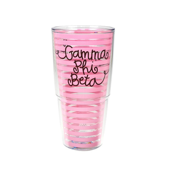 Gamma Phi Beta Tervis Tumbler in fun sorority colors