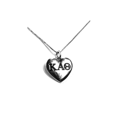 Kappa Alpha Theta charm in sterling silver for a beautiful sorority necklace.