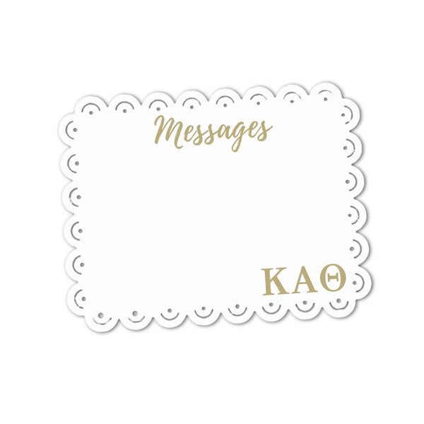 Kappa Alpha Theta Messages Sign . Magnetic, Dry Erase, Metal Sign