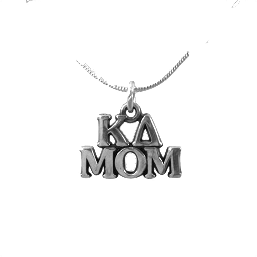 Kappa Delta Mom Charm. Sterling Silver.