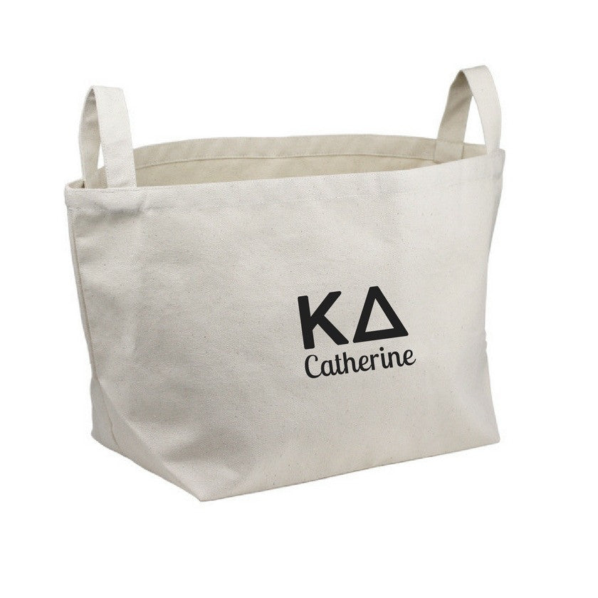 Kappa Delta Storage Tote Bin . Optional Personalization