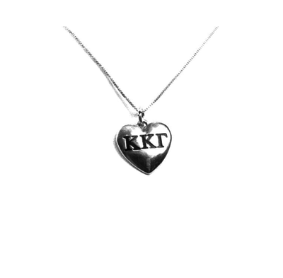 Kappa Kappa Gamma charm in sterling silver for a beautiful sorority necklace.