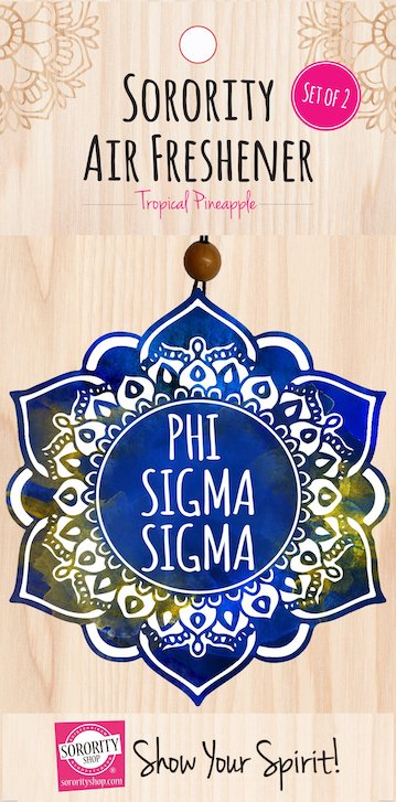 Phi Sigma Sigma air fresheners are great gifts for new members!