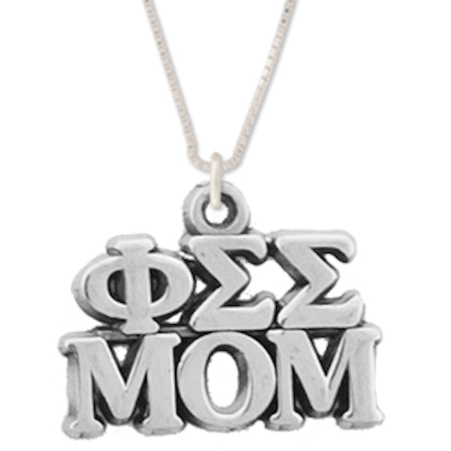 Phi Sigma Sigma Mom Charm . Greek Letters