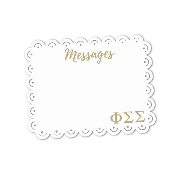 Phi Sigma Sigma Messages Sign . Magnetic, Dry Erase, Metal Sign