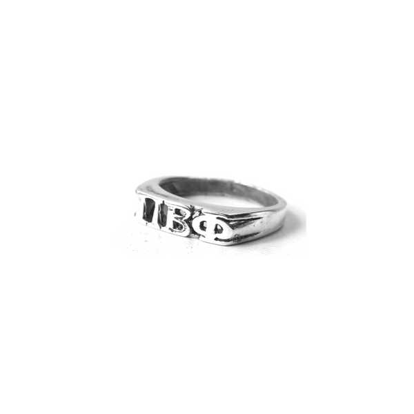 Pi Beta Phi Ring with Greek Letters Sterling Silver.
