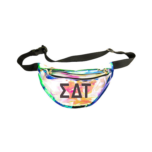 Sigma Delta Tau Fanny Pack with Black Greek Letters