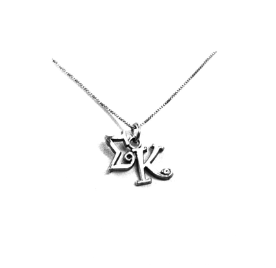 Sigma Kappa charm for your sorority necklace. Sterling Silver sorority charm.