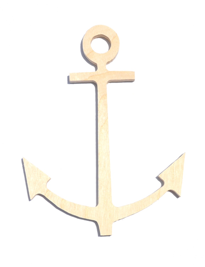Wood Anchor for Sorority Crafts. Cute anchor craft ideas available for Delta Gamma and Alpha Sigma Tau on M&D Sorority Gifts Sorority Style Blog.