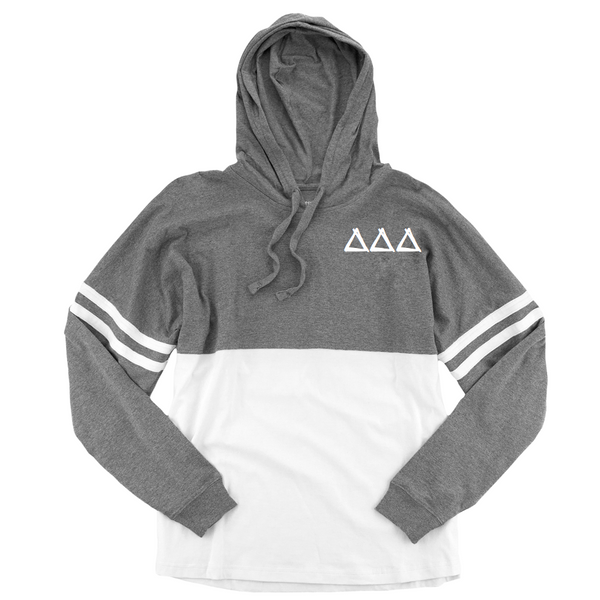 Delta Delta Delta Long Sleeve hoodie Jersey perfect fall sorority long sleeve t-shirt.