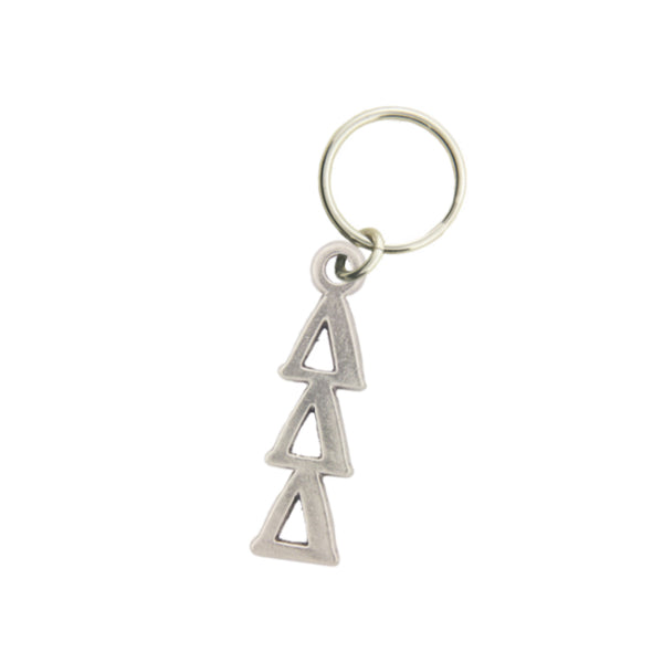 Delta Delta Delta Pewter keychain. Sorority keyrings make great sorority gifts.