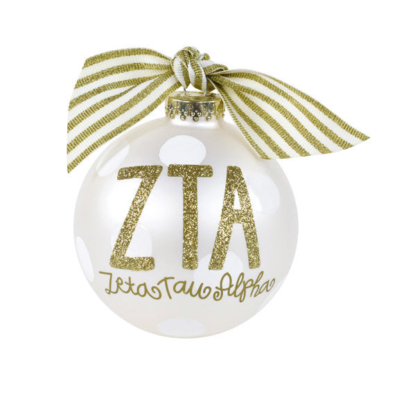 Zeta Tau Alpha Ornament I Collectible I Gold I Optional Personalization