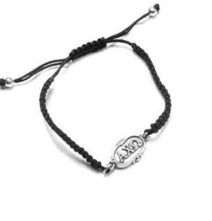 Alpha Chi Omega bracelet. The perfect big or little gift! Why? Two great reasons. First, one size fits all. It is adjustable. Second, it is too cute!