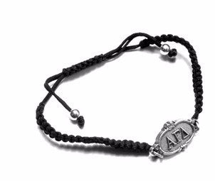 Alpha Gamma Delta bracelet. The perfect big or little gift! Why? Two great reasons. First, one size fits all. It is adjustable. Second, it is too cute!