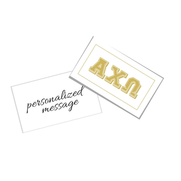 Alpha Chi Omega Gift Card . Metallic Gold