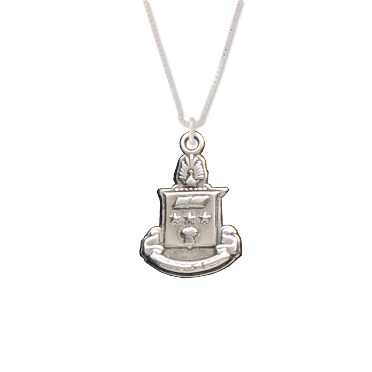 Alpha Chi Omega reversible crest charm necklace.