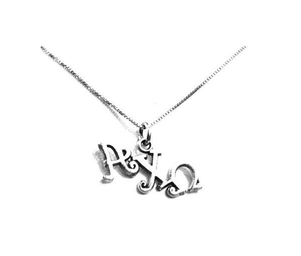 Alpha Chi Omega charm for your sorority necklace. Sterling Silver sorority charm.