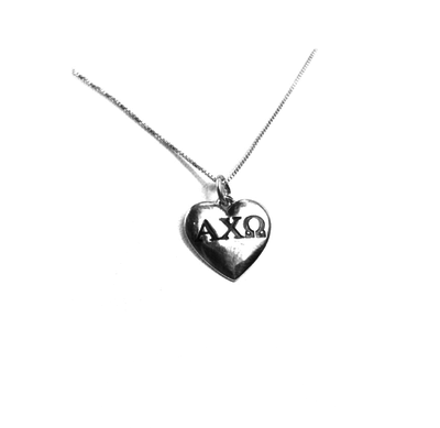 Alpha Chi Omega charm in sterling silver for a beautiful sorority necklace.