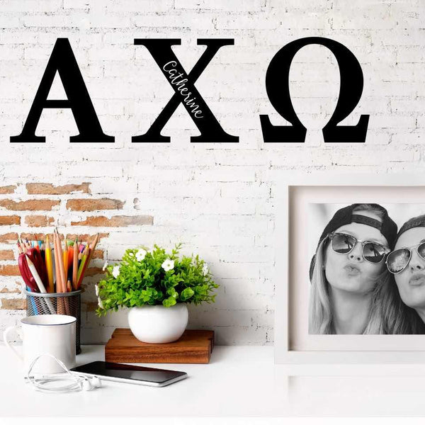 Alpha Chi Omega Greek Letters Ready to Hang I 7 inches I Personalize