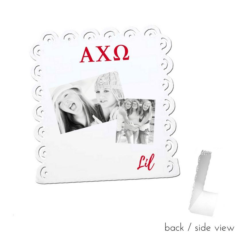 Big Little Message Stand . Magnetic & Dry Erase . Great for Photos and Notes (Select Sorority)