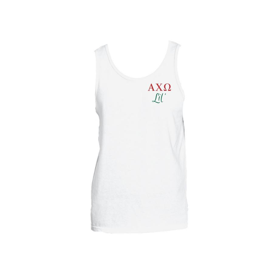 Big & Little Tank Top . Big or Lil + Greek Letters (Select Sorority)