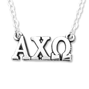 Alpha Chi Omega Necklace . Greek Letters