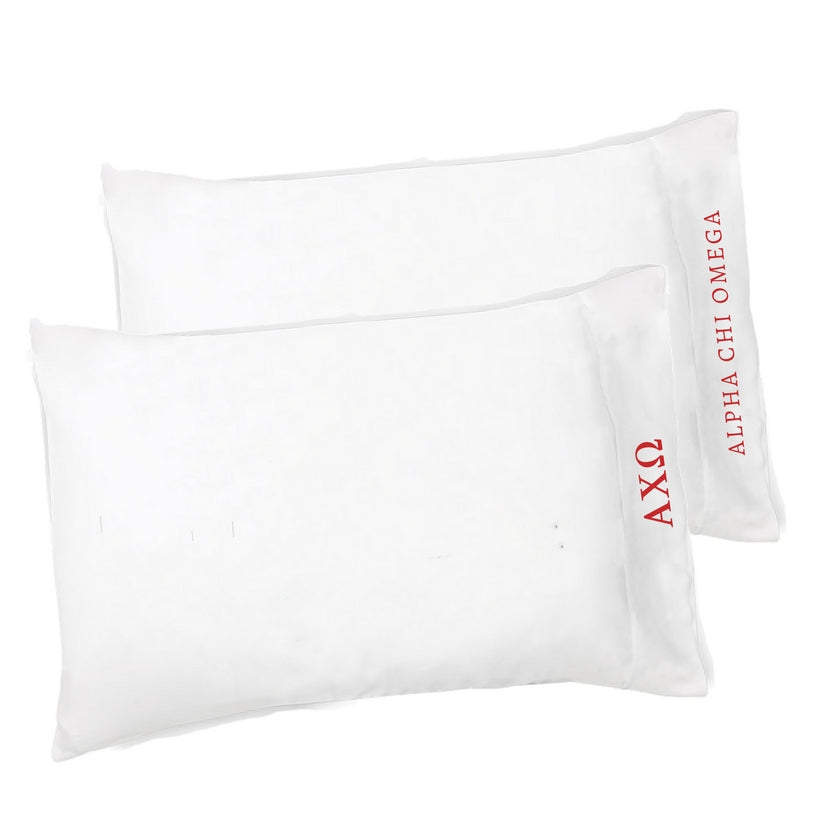 Alpha Chi Omega Pillowcases . Greek Letters & Sorority Name