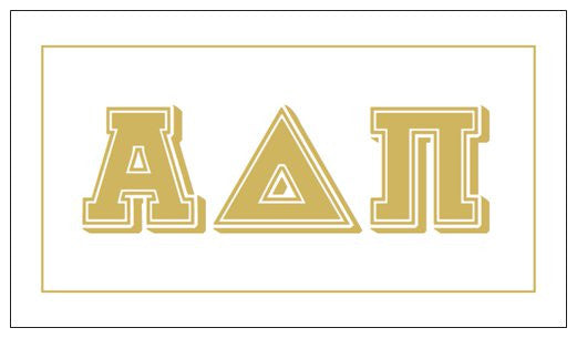 Alpha Delta Pi Gift Card . Metallic Gold