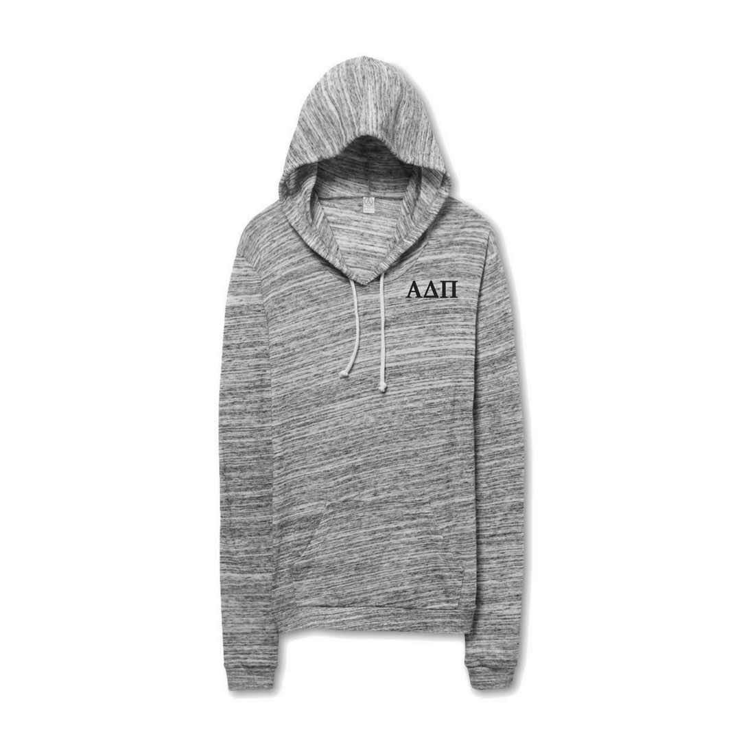 Alpha Delta Pi Hoodie pullover shirt made of lightweight jersey. #AlphaDeltaPi clothing you will want to wear every day! #ADPI