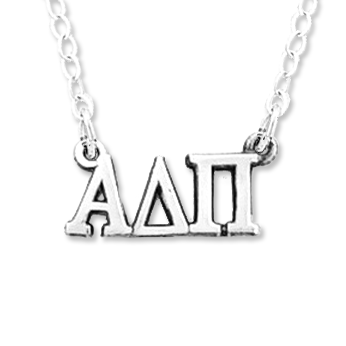 Alpha Delta Pi Necklace . Greek Letters