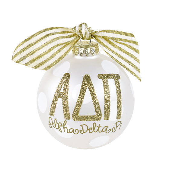 Alpha Delta Pi Ornament I Collectible I Gold I Optional Personalization
